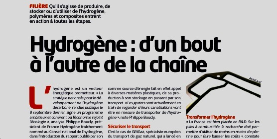 Plastiques & Caoutchouc magazine is talking about Acaplast